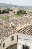 Eco, Klasyczny dachówkowy dach, Chinchon, Hiszpański magistracki sławny fo Fotografia Royalty Free