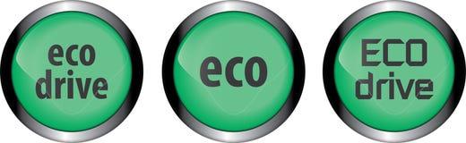 Eco-Knopf stock abbildung