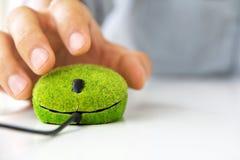 Eco komputeru mysz Zdjęcia Stock
