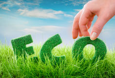 Eco Konzept Stockfoto