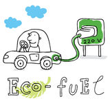 Eco Kraftstoff, zeichnend Stockfoto