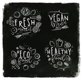 Eco label chalk Royalty Free Stock Images