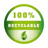 Eco label. Design, vector illustration eps10 graphic Royalty Free Illustration