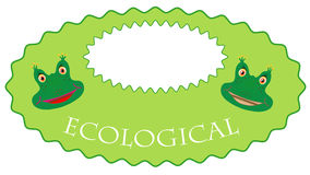 Eco-label is a frog Stock Images