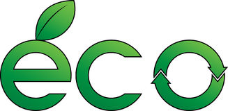 Eco label. Green eco label. Environment concept Royalty Free Stock Images