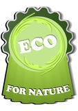 Eco-label for recyclable materials Stock Images