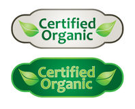 Eco label set Stock Images