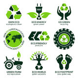 Eco label and symbol set Royalty Free Stock Photography