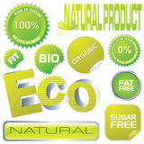 Eco labels. Set of ecology labels and stickers, vector illustration Stock Images