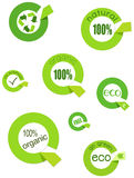 Eco labels. A illustration of eco labels Stock Photography