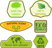 Eco labels Royalty Free Stock Images