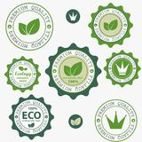 Eco labels. Stock Photo
