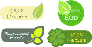 Eco labels Stock Photo