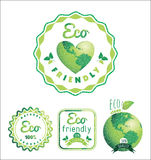 Eco Labels Bio template. Ecology theme. Royalty Free Stock Photography