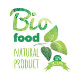 Eco Labels Bio template. Ecology theme. Royalty Free Stock Photos