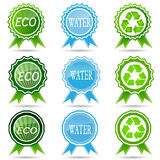 Eco labels with  design. Royalty Free Stock Photography