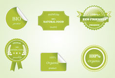 Eco labels. Eco friendly Royalty Free Stock Photo