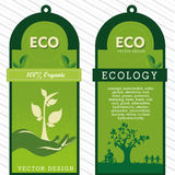 Eco labels. Over grunge background vector illustration Royalty Free Stock Photos