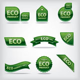 Eco labels and stickers Royalty Free Stock Images