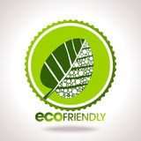 Eco lables leaf in circle Stock Images