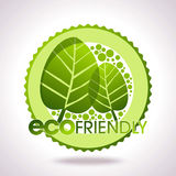 Eco lables, leaves in circle Stock Photo