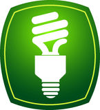 Eco lamp. Illustration art of a eco lamp with isolated background royalty free illustration