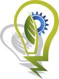 Eco lamp logo. Illustration art of a Eco lamp logo with isolated background Stock Photography