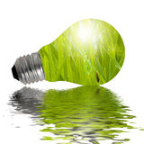 Eco Lamp reflected in water Royalty Free Stock Photography