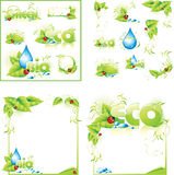 ECO layout concept design background Stock Images