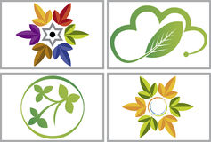 Eco leaf collection logos Royalty Free Stock Photos