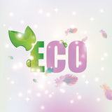 Eco with leave background of feathers Stock Image