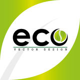 Eco leaves design Royalty Free Stock Image