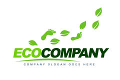 Eco Leaves Logo. An illustration of a logo representing eco leaves logo Stock Images
