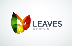 Eco leaves logo design made of color pieces Stock Photos