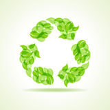 Eco leaves make a recycle icon Royalty Free Stock Image