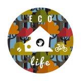 Eco-Leben-Vektorhintergrund Stockbilder