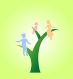 Eco life family I Royalty Free Stock Image
