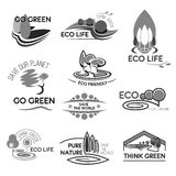 Eco life and green environment vector icons Stock Images