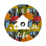 Eco life vector background Stock Images