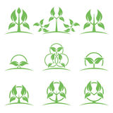 Eco lifestyle concepts icons. Stock Photography
