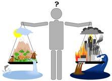 Eco lifestyle vs urban lifestyle Stock Photos