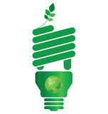 Eco light bulb Stock Photography