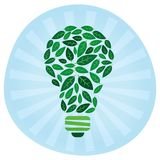 Eco Light Bulb. Green Living Royalty Free Stock Images