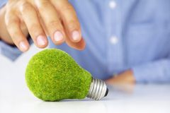 Eco light bulb concept Royalty Free Stock Images