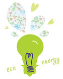 Eco light bulb concept Stock Photos