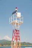 Eco Lighthouse. A lighthouse running on solar energy Royalty Free Stock Photography