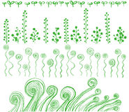 Eco line. hand drawn illustrations. Royalty Free Stock Images