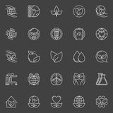 Eco line icons Royalty Free Stock Photography
