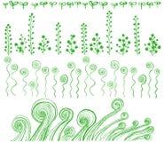 Eco linje tecknade handillustrationer Royaltyfria Bilder