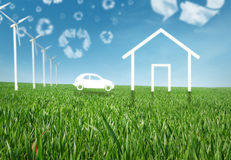 Eco living stock photo